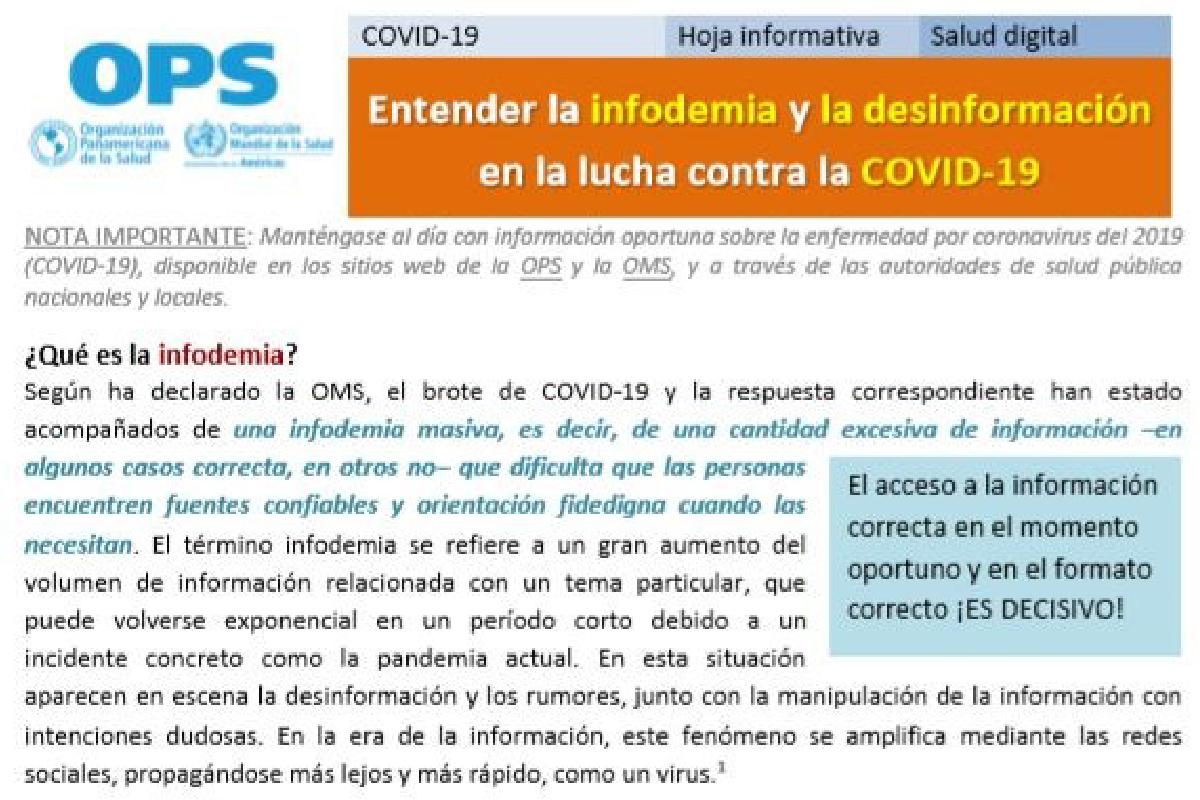 Entender la infodemia y la desinformación en la lucha contra la COVID-19